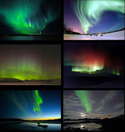 ظاهرة الشفق القطبي Aurora Borealis and Australis Poster